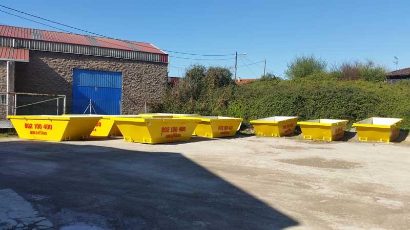 Contenedores para escombro en Oviedo