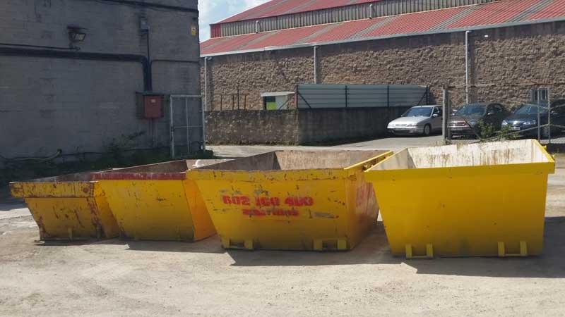Contenedores para escombro en Gijón